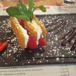 Millefeuille de fraise, crème mascarpone vanillée : une tuerie !