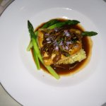 Halibut in veal sauce