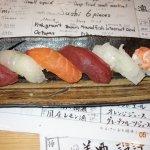 Six piece sushi set