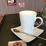 Coffee cup in the Crediton Coffee Company