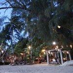 The restaurant and beach area