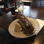 "This is a ""Mega"" carvery and a foot long eclair."
