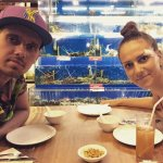 the seafood bali with my lovely wife after surfing