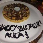 Тортик с нутеллой для деток подарил в четсть Дня рождения дочери Джордж)) было очень приятно