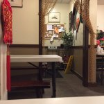 3 small tables and a counter; a take out  Taiwanese food restaurant. Great food and service. Yan