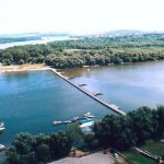In the summer Lido beach is conected connected to Zemun promenade with a pontoon bridge