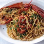 Linguini with fresh lobster - Yum!!