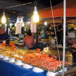 Night food market on the way to Patong beach