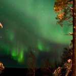 Outside the back is the most ideal location to see the Northern Lights