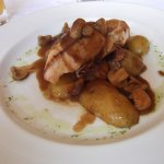 Chicken breast in chasseur (?) sauce