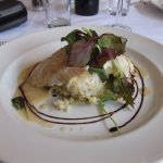 Steamed fillet of haddock on bubble and squeak