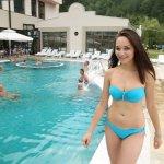 Thermal water opendoor pool