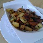 Röstkartoffeln zum Fleisch