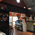 Front counter with beautiful espresso machine