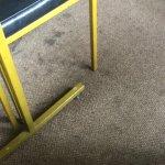 Dirty carpet breakfast room