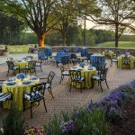 Terrace on the Green set for reception