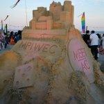 Sand Castle built for our event