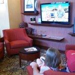 comfy lobby/breakfast area