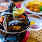 Muscles from Crown and Anchor Inn, Findhorn