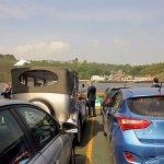 Car ferry across the estuary