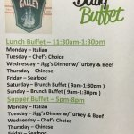 Daily Buffets - Now being Served Lunch & Supper