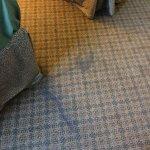 Sticky stain on carpet