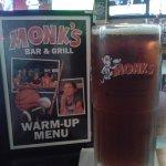 Happy Hour upsize beer and half-price appetizers!