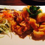 Cream cheese shrimp tempura  Tom kha gai Calamari Pad Thai Soft shell crab tempura