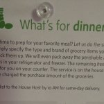 They'll shop for you! Here's the grocery order card.