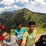 On top of Little Adams peak and enroute. View of the ella rock
