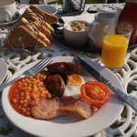 Fabulous breakfast served in the lovely garden