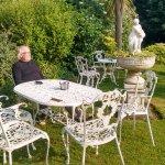 lovely morning breakfast in the garden