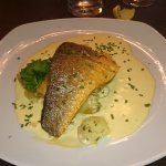 Grilled filet of sea bass