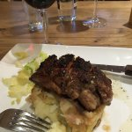 Simply fantastic rump of lamb, cooked by the chef after they'd called time