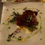 filet with asparagus and potatoes