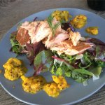House smoked salmon and piccalilli from Suburban Cafe West End