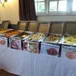 The beautiful display of food