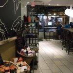 Inside of Starboucks in Gatlinburg