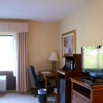 Room 416, an Accessible Room Type, very spacious. Desk, Mini Refrigerator and Microwave,and TV.