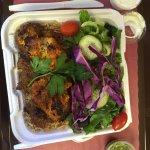 Lamb Kabob with chicken. Delicious!
