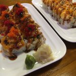 Fuji mountain roll and Baked lobster roll