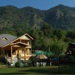 backdrop of valley view resorts @ pahalgam