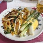 Asparagus with rosti