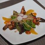 Starter - Grilled prawn. Yummy!