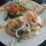 Lobster, prawn, scallop & squid salad