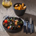 Mon Ami mussels with handmade fries