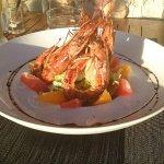 Salade gambas agrumes