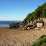 Mothecombe Beach and Beach House at Flete Estate