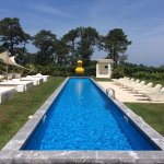The pool at Beaumanoir