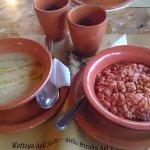 Zuppa di ceci e pappa al pomodoro